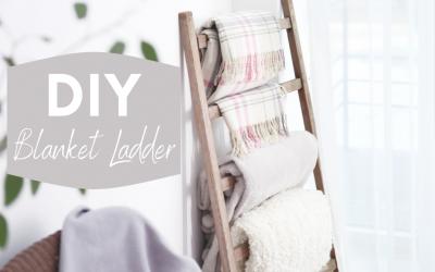 How to make DIY Blanket Ladder